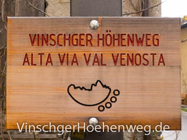 Vinschger Hoehenweg - Wegschild