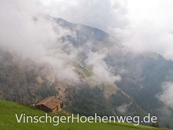 Vinschger Hoehenweg - Ausblick bei Forra