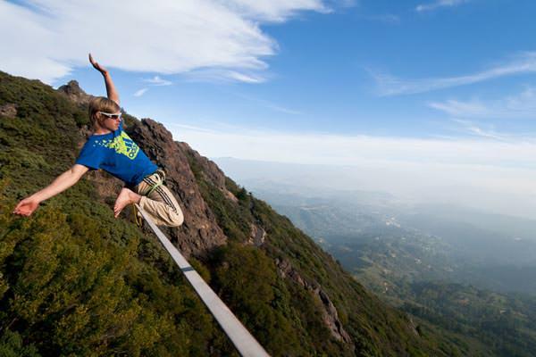 Lukas Irmler - Enjoying the view of Mt Tam