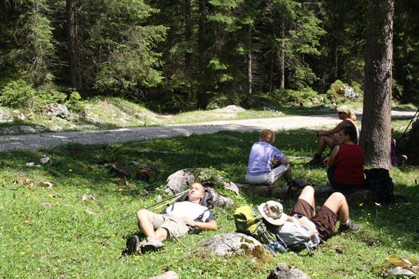 24 Stunden Wanderung am Achensee - Pause