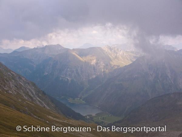Allgaeuer Alpen - Blick auf den Vilsalpsee