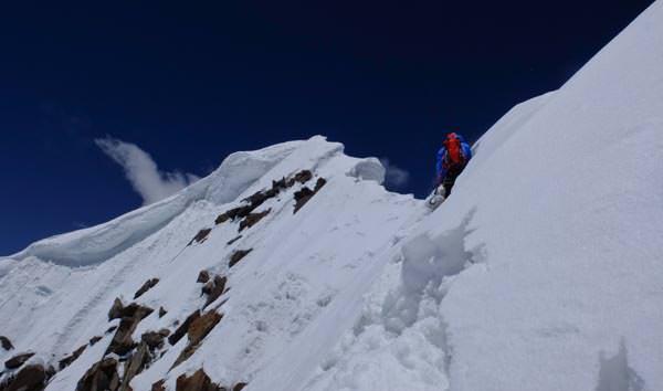 Expedition Karakorum 2012 - Herve Barmasse beim Aufstieg
