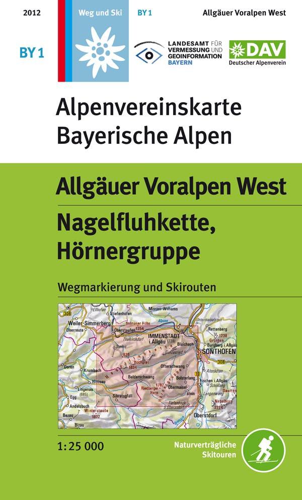 Alpenvereinskarte Bayerischen Alpen - BY1