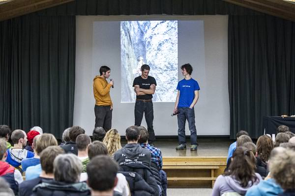 Ice Climbing Festival Kandersteg 2013 - Adam Ondra and Pietro dal Pra