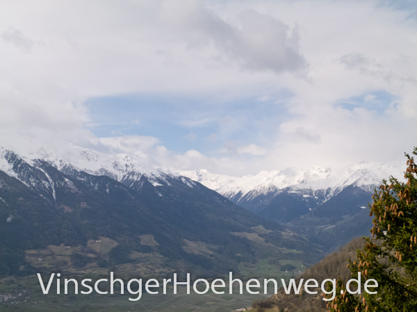 Blick über das Vinschgauer Tal