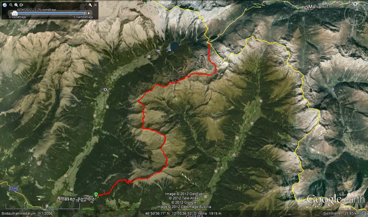 11 Gipfel Tour - Kartenuebersicht
