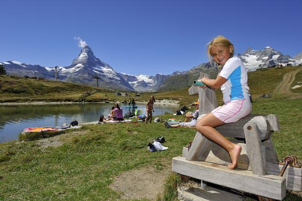 Zermatt - Bad im Leisee