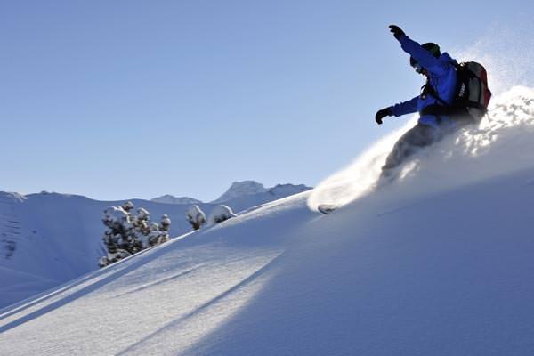 Liechtenstein - Skifahrer im Winter 2012/13