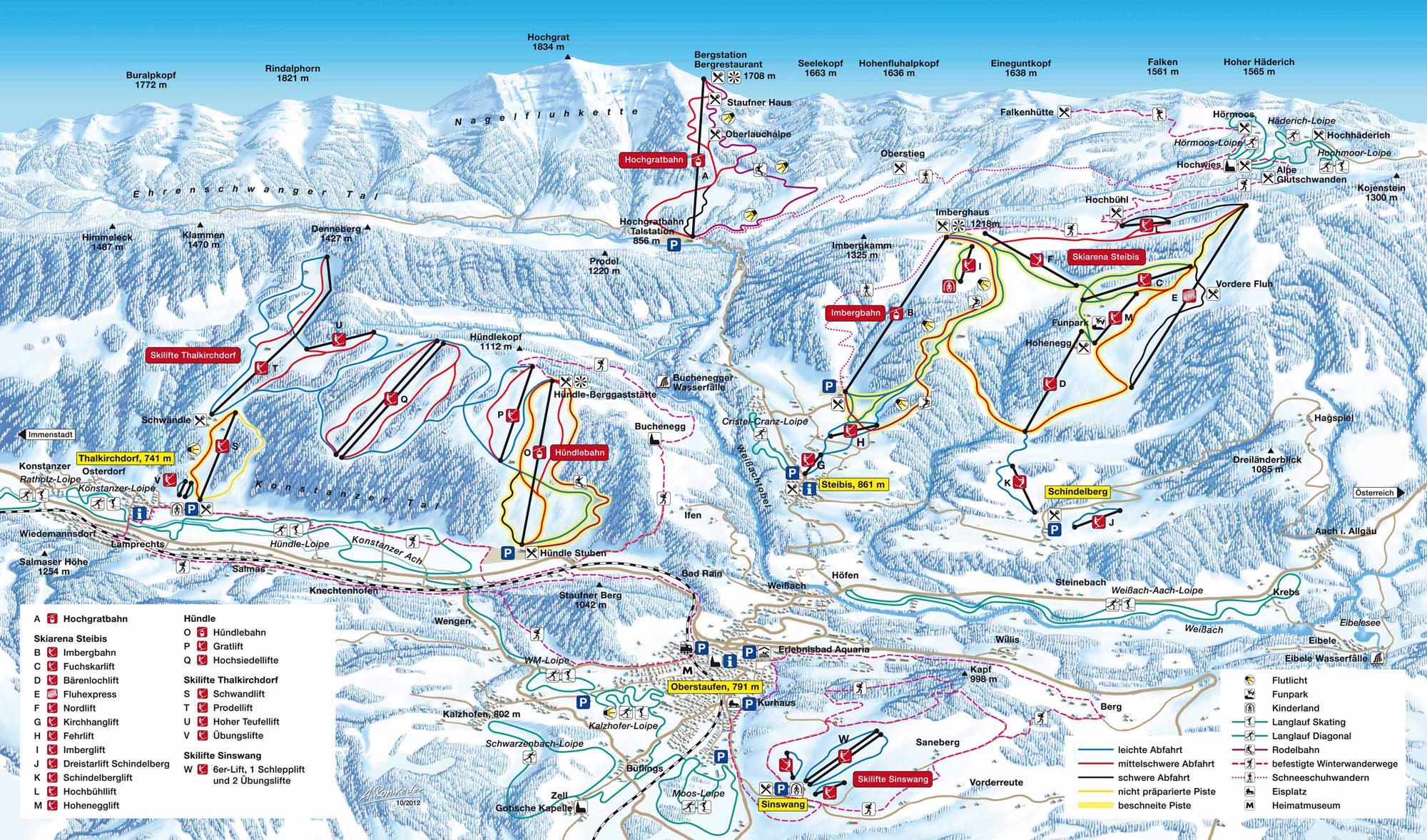 Pistenplan Oberstaufen - Imberg - Steibis
