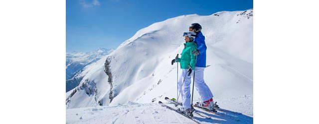 Raurisertal - Skifahrer vor Panorama