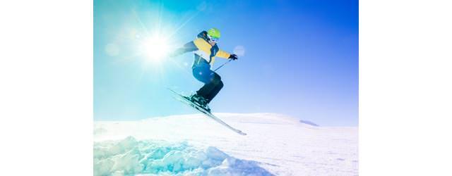 Wildkogel-Arena - Skifahrer im Sprung