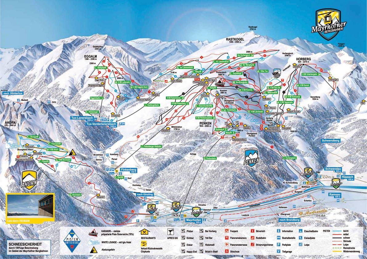 Mayrhofen - Pistenplan