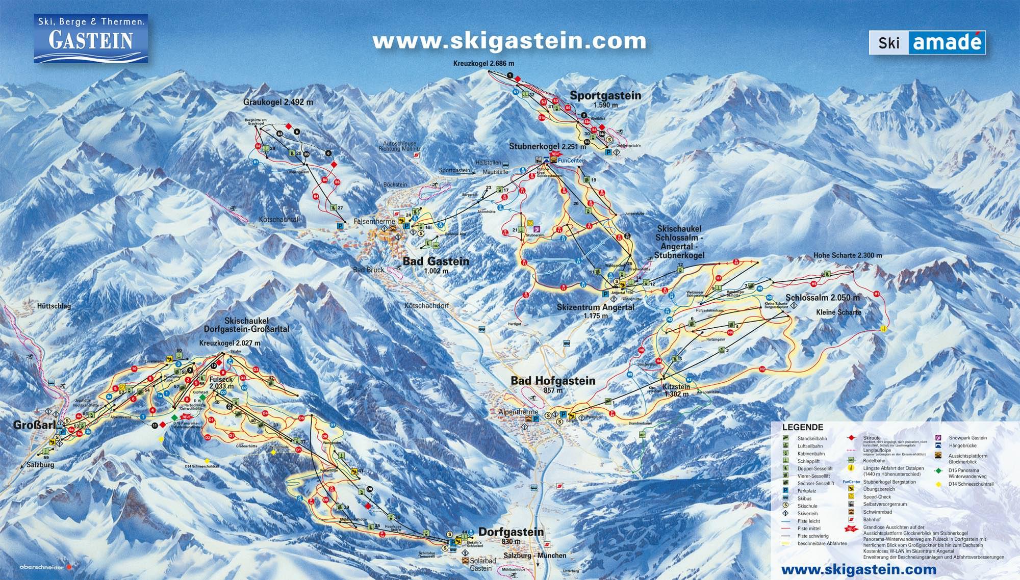 Pistenplan - Bad Gastein - Graukogel