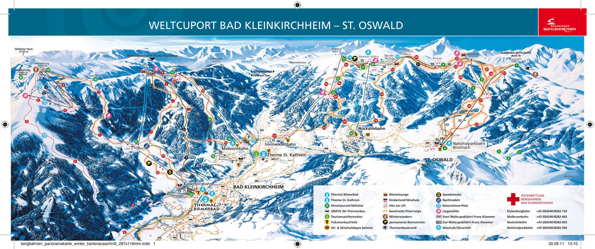 Pistenplan Bad Kleinkirchheim - St Oswald