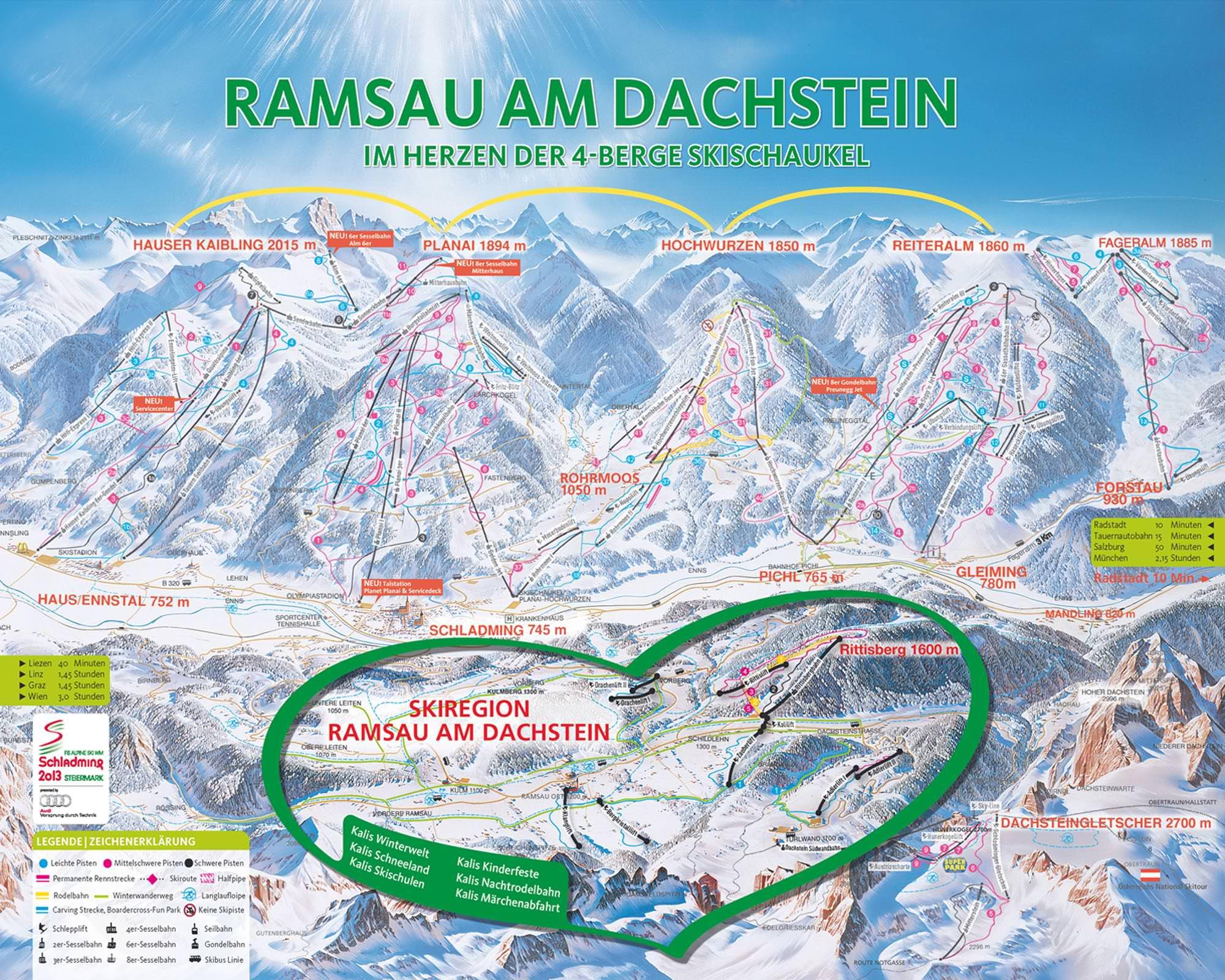 Pistenplan - Ramsau-Dachsteingletscher