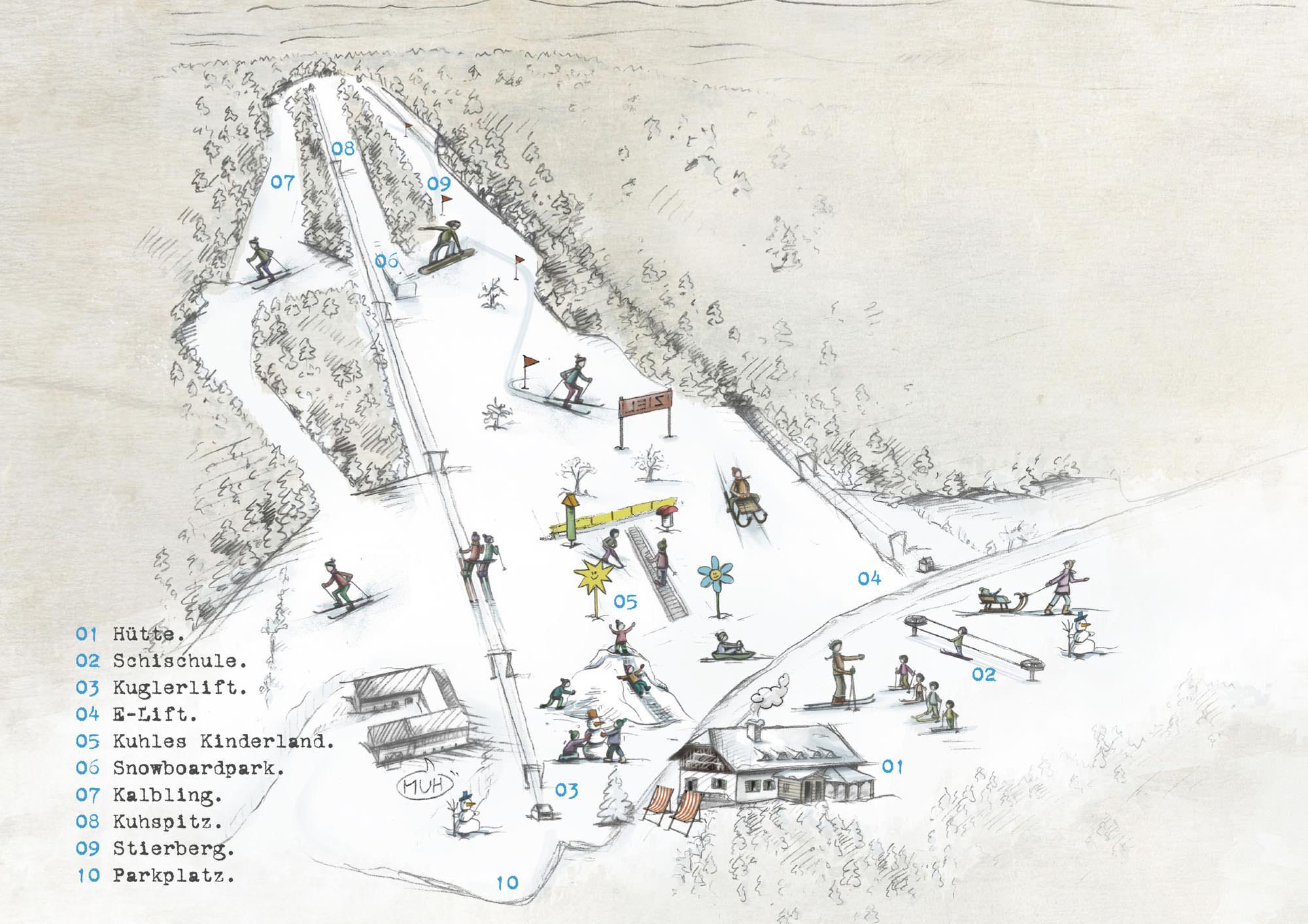 Pistenplan Sandl - Vieberg