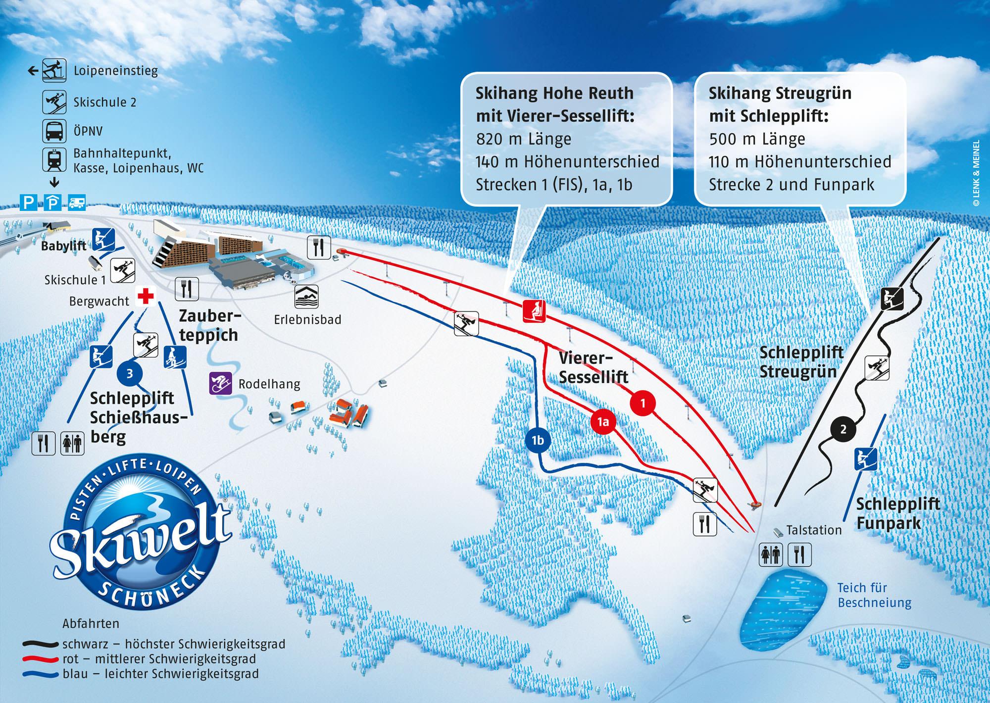 Pistenplan Schoeneck (Skiwelt)