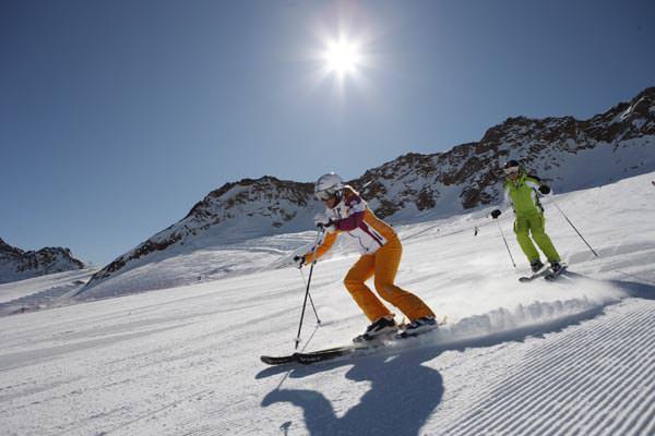 Schnalstal - Skifahrer