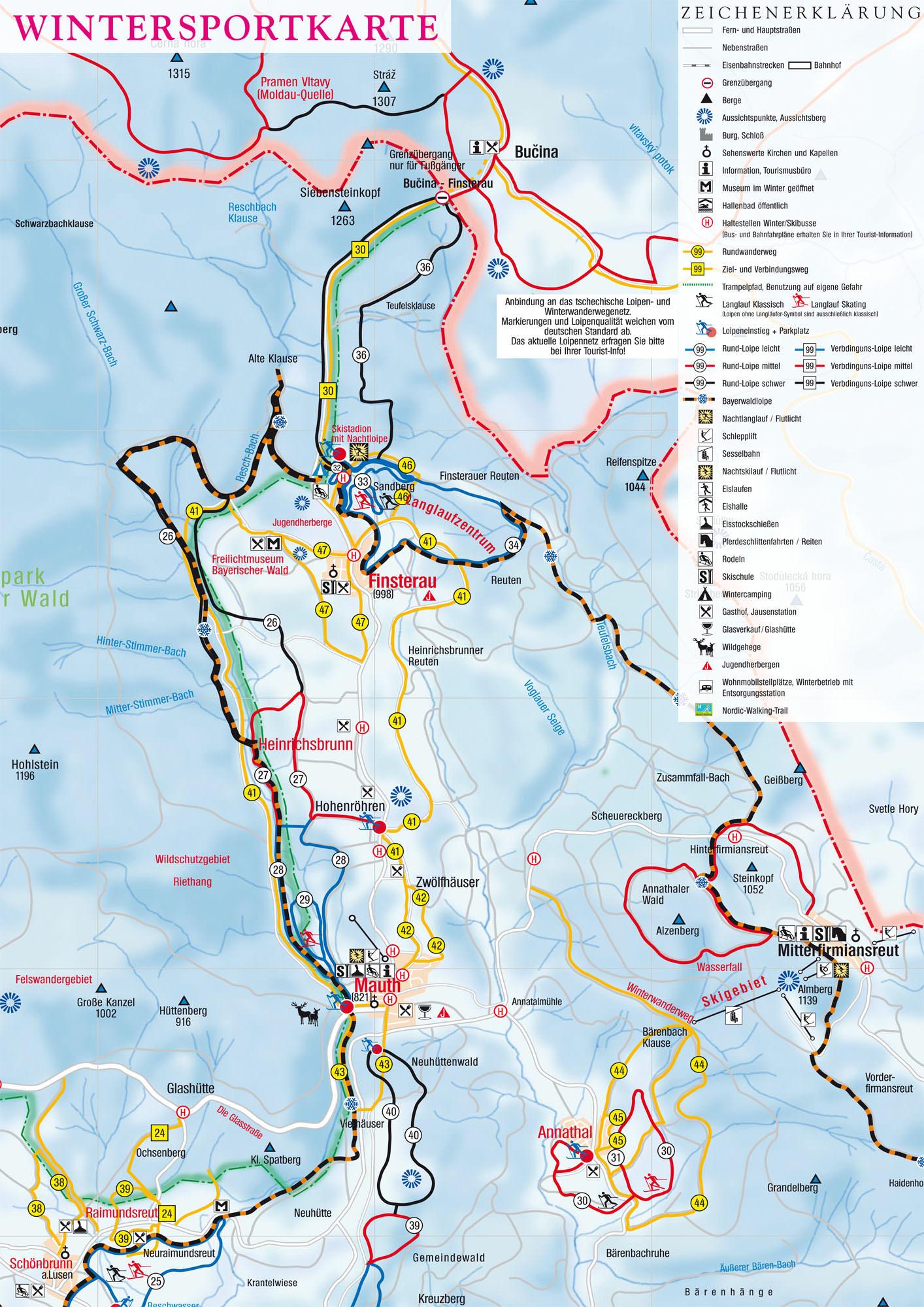 Wintersportplan Mauth - Finsterau
