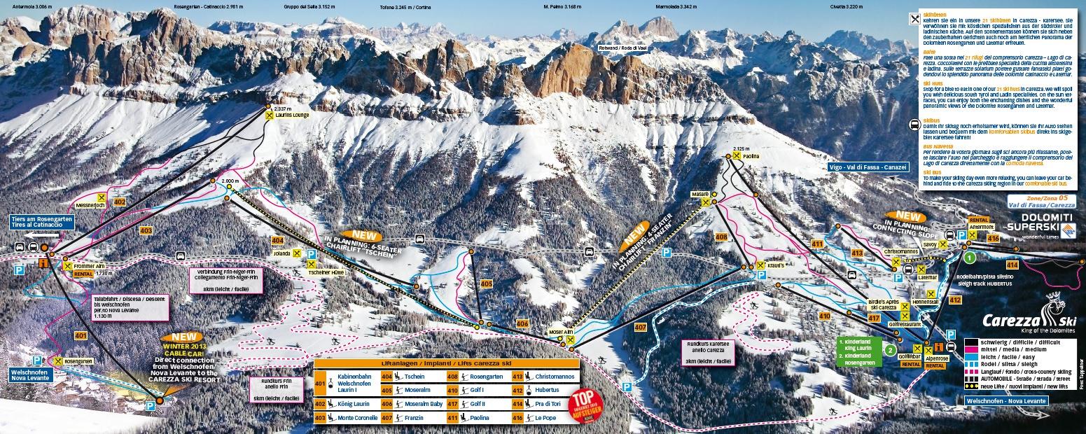 Pistenplan - Carezza Ski