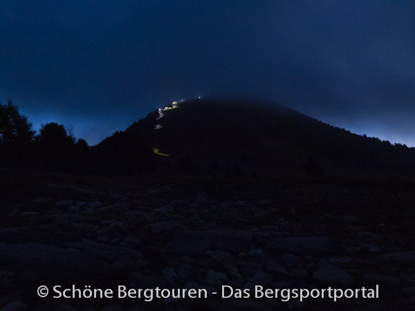 11 Gipfel Tour 2013 - Aufstieg zum Rudlhorn