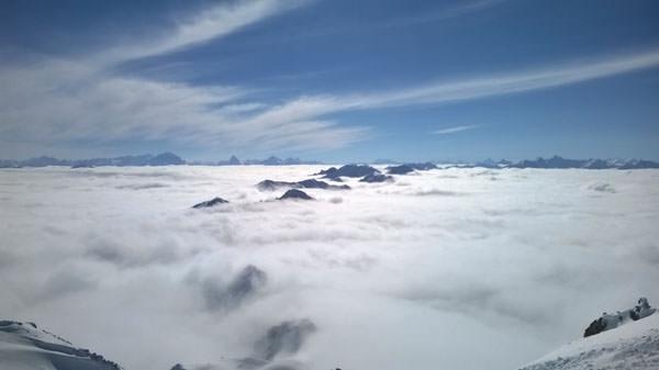 Davos Klosters - Ausblick vom Weissfluhgipfel