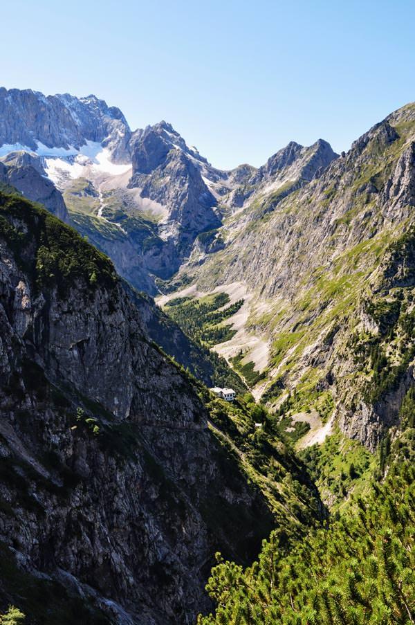 Hotel am Badersee - Hoellental Zugspitze von Hupfleitenjoch