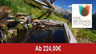 Hotel Vierbrunnenhof – Berg- und Alpingenuss… _______________________________________________ Angebotsbeschreibung/Leistungen: 7 Nächte zum Preis von 6! 5 Nächte zum Preis von 4! Grenzenloses Wandervergnügen… Einzigartige Persepektiven… Unvergessliche Glücksmomente… Angebotspreis: – 336,00 Euro […]