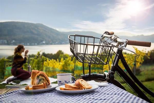 Woerthersee - Citybike und Reindling