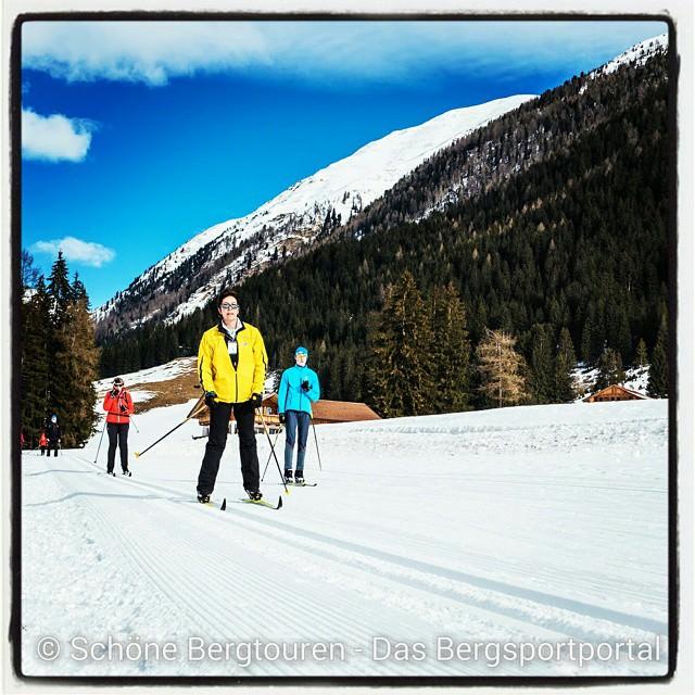 Cross-country skiing in Gsiesertal, southtyrol, italy @kronplatz @visitsouthtyrol #magdalenahof #gsiesertal…