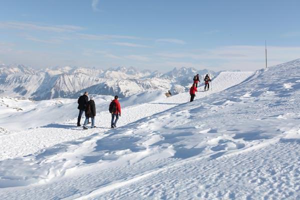 Kleinwalsertal - Gottesackerweg im Winter auf dem Ifen