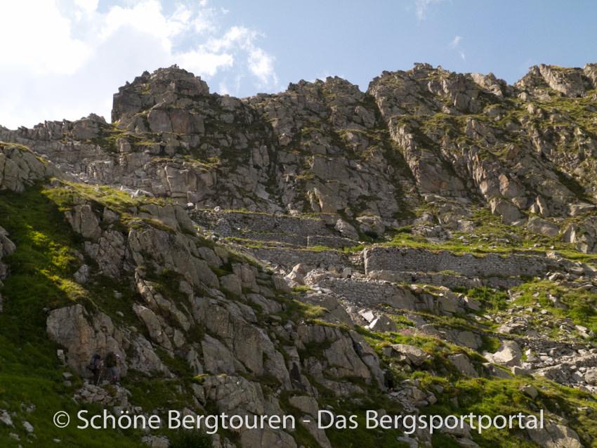 Sentiero della Pace - Ruinen eines Tiroler Lagers