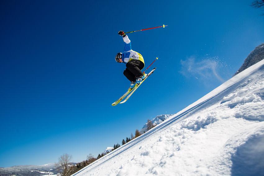 Ruhpolding - Sprung beim Skifahren