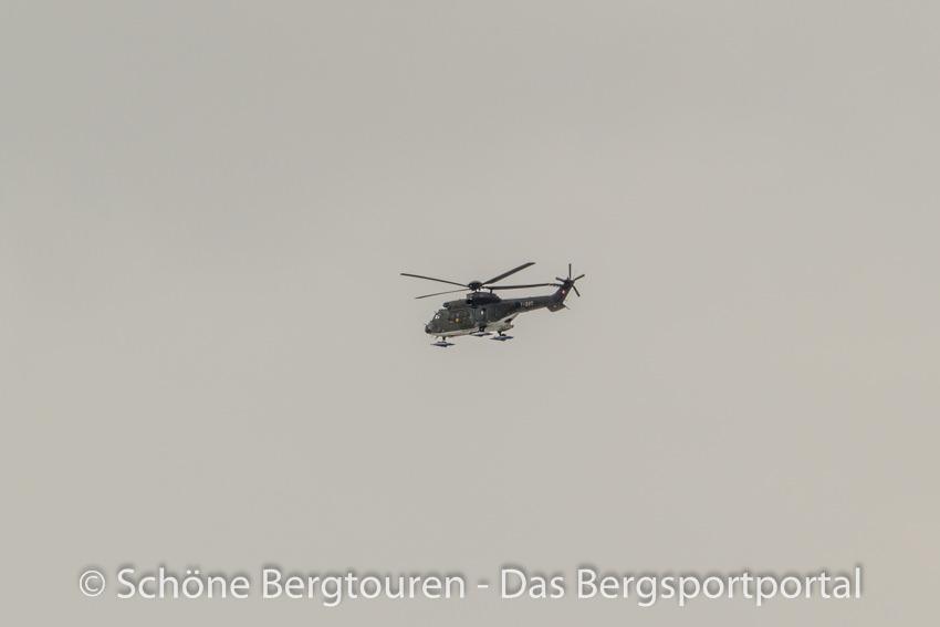 Davos Kloster - Militaerhelikopter