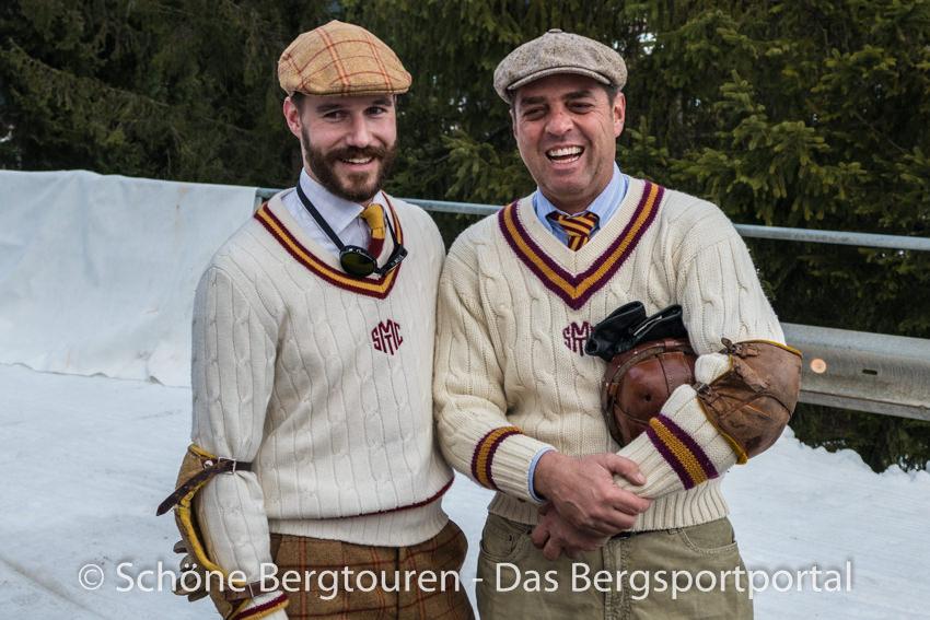 Davos Klosters - Beim nostalgischen Schlittenrennen