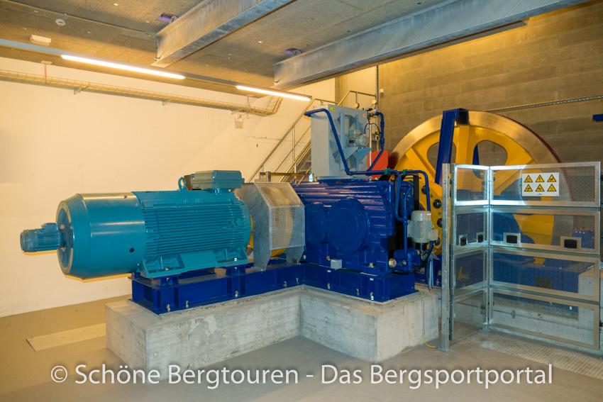 Davos Klosters - Maschinenraum der Jakobshornbahn