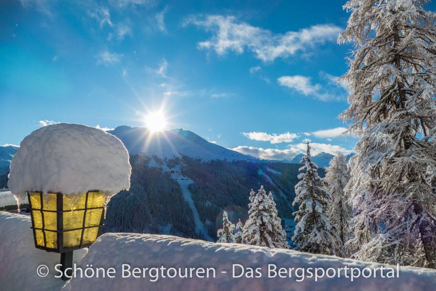 Davos Klosters - Ausblick vom Panorama Restaurant Schatzalp