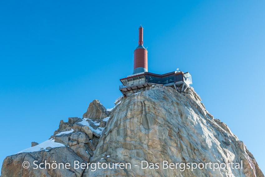 Chamonix - Gipfelgebäude auf der Aiguille du Midi
