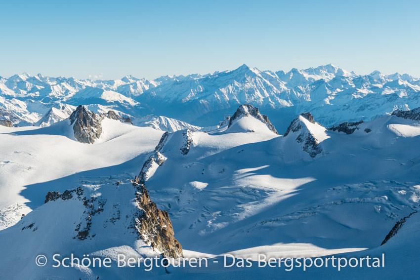 Chamonix - Blick von der Aiguille du Midi