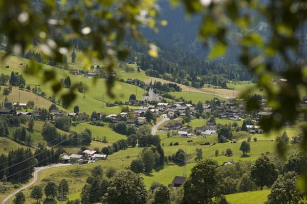 Bauernhofdorf Embach - Ansicht im Sommer