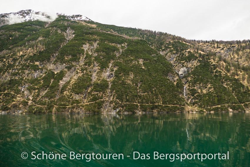 Achensee - Blick auf den Gaisalmsteig