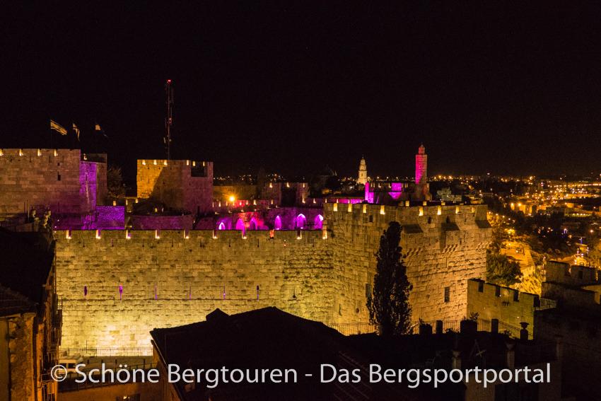 Israel - Altstadt von Jerusalem bei Nacht