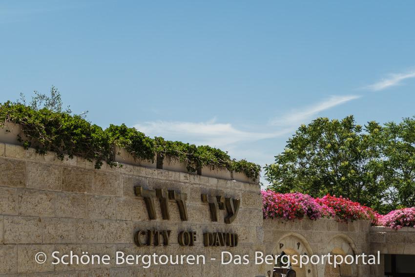 Israel - Eingang zur Davidstadt in Jerusalem