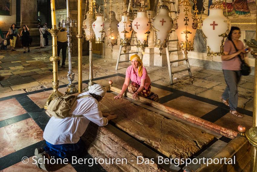 Israel - Salbungsstein in der Grabeskirche