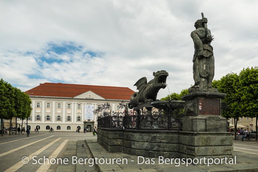 Klagenfurt - Lindwurmbrunnen