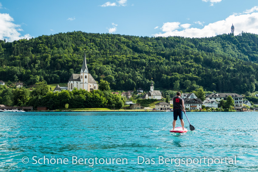 Woerthersee - Stand Up Paddling vor Maria Woerth