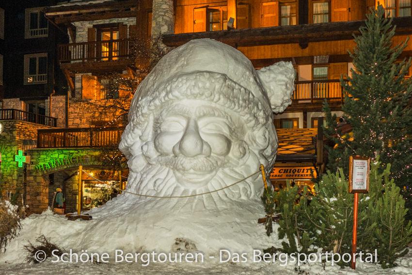 Val d Isere - Weihnachtsmann
