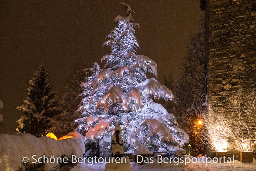 Courmayeur - Weihnachtsbaum