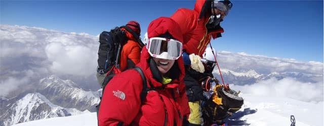 Tamara Lunger 2014 auf dem K2