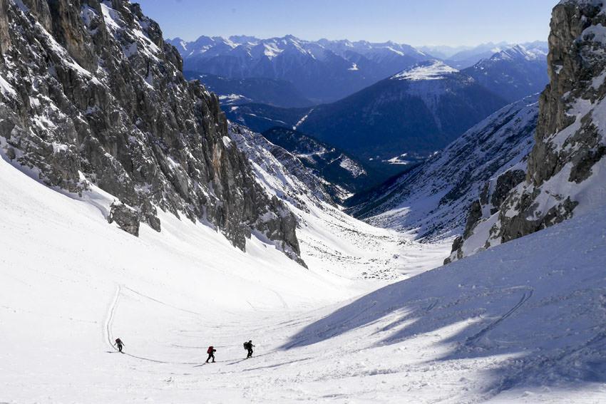 Bergauf-Bergab - Aufstieg zur Gruensteinscharte